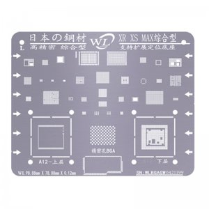 WL Universal BGA Reballing Stencil Kit Tin Mesh Solder Template for iPhone XR XS XS Max