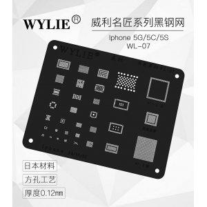 WYLIE Black BGA Reballing Stencil for 5/5s/5c