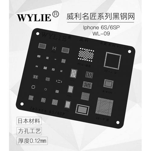 WYLIE Black BGA Reballing Stencil for iP6s/6s+