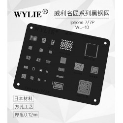 WYLIE Black BGA Reballing Stencil for iP7/7+
