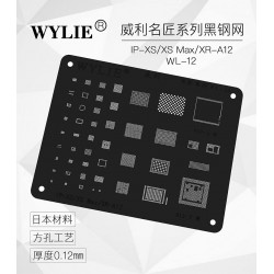 WYLIE Black BGA Reballing Stencil for XS/XS Max/XR