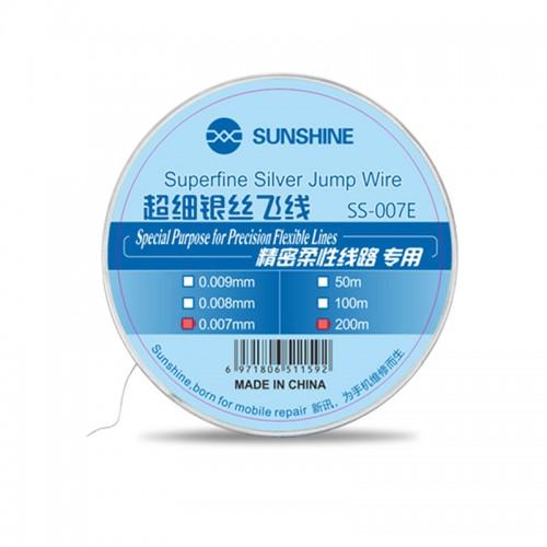 Ultra-Fine Silver Wire Fly Line SS-007E 0.007mm Superfine Silver Jump Wire