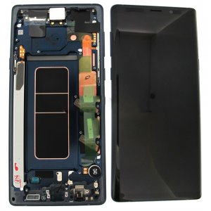 Samsung Galaxy Note 9 N960F LCD Screen Replacement With Frame Blue Ori