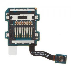 Samsung Galaxy S3 Mini i8190 SD Card Reader Connector Flex Cable Ori R