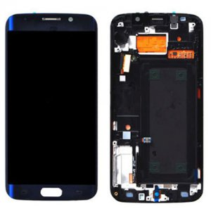 Samsung Galaxy S6 Edge G925F LCD Screen and Digitizer Touch Screen with Frame Black Sapphire Ori