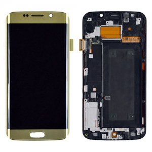 Samsung Galaxy S6 Edge G925F LCD Screen and Digitizer Touch Screen with Frame Gold Ori