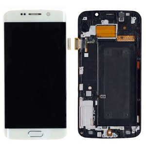 Samsung Galaxy S6 Edge G925F LCD Screen and Digitizer Touch Screen with Frame White Ori