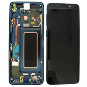 Samsung Galaxy S9 G960F  LCD Screen With Frame Blue Ori