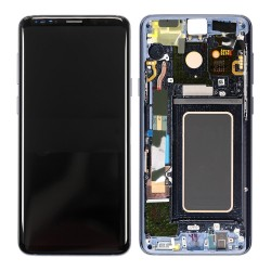 Samsung Galaxy S9 Plus LCD Screen Replacement With Frame G965F Blue