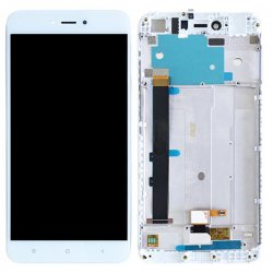 Xiaomi Redmi Note 5A LCD Screen With Frame White OEM