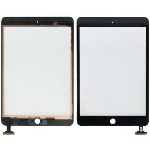 Original Black Digitizer Touch Screen Assembly without IC Connector  Chip for iPad  Mini and Mini 2 Retina