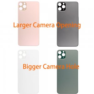 For iPhone 11 Pro  Back Glass with Bigger Camera Hole Larger Camera Opening