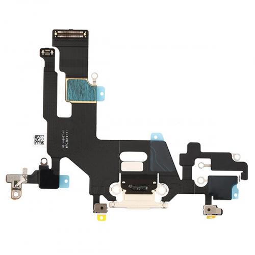 For iPhone 11 Charging Port Flex Cable White
