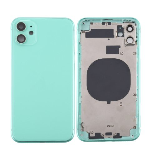 For iPhone 11 Back Housing with Side Buttons Green