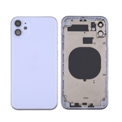 For iPhone 11 Back Housing with Side Buttons Purple