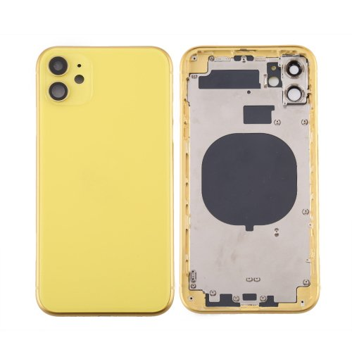 For iPhone 11 Back Housing with Side Buttons Yellow