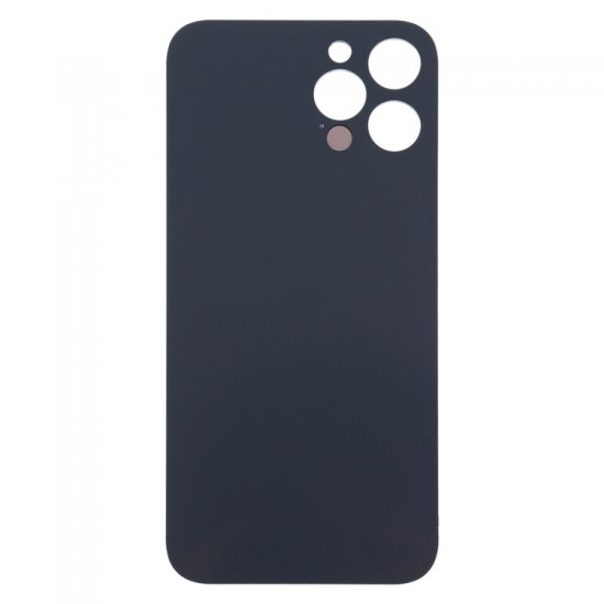 For iPhone 12 Pro Max Back Glass Black with Bigger Camera Hole Black