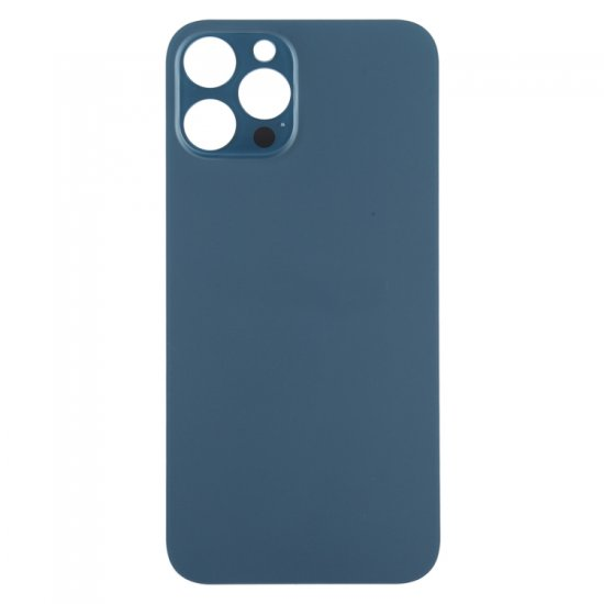 For iPhone 12 Pro Max Back Glass Black with Bigger Camera Hole Blue