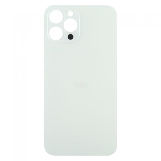 For iPhone 12 Pro Max Back Glass Black with Bigger Camera Hole White