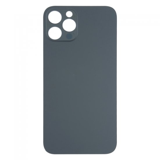 For iPhone 12 Pro Back Glass Black with Bigger Camera Hole Black