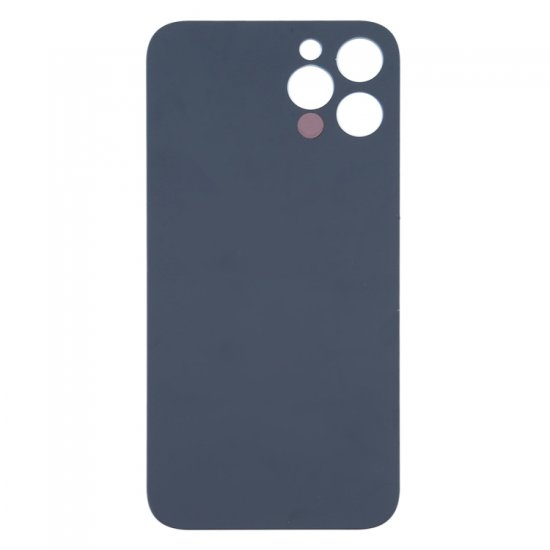 For iPhone 12 Pro Back Glass Black with Bigger Camera Hole Blue