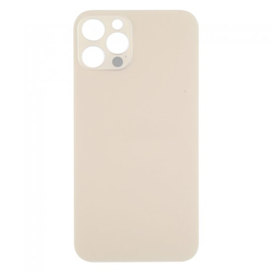 For iPhone 12 Pro Back Glass Black with Bigger Camera Hole Gold