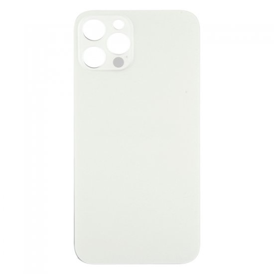 For iPhone 12 Pro Back Glass Black with Bigger Camera Hole White