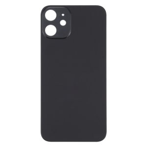 For iPhone 12 Mini Back Glass Black