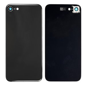 For iPhone 8 Back Glass with Camera Holder Black