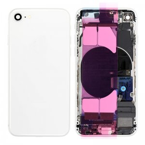 For iPhone 8 Back Housing with Orignal Small Parts Assembly White