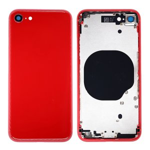 For iPhone 8 Back Cover with Frame Red