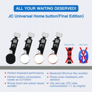 JC Final Edition Universal Home Button with Return Function for iPhone 7/7Plus/8/8Plus