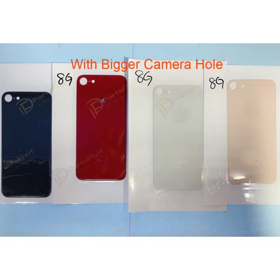 For iPhone 8 Back Glass with Bigger Camera Hole