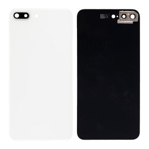 For iPhone 8 Plus Back Glass with Camera Holder White