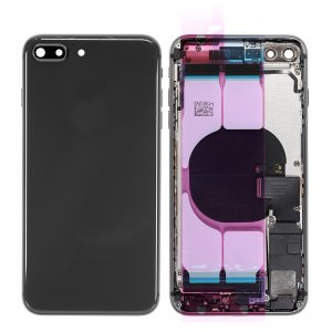 For iPhone 8 Plus Back Housing With Original Small Parts Assembly Black