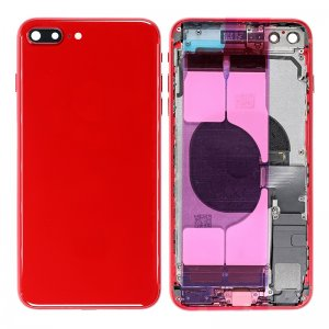 For iPhone 8 Plus Back Housing With Original Small Parts Assembly Red