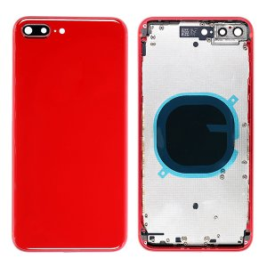 For iPhone 8 Plus Back Cover with Frame Red