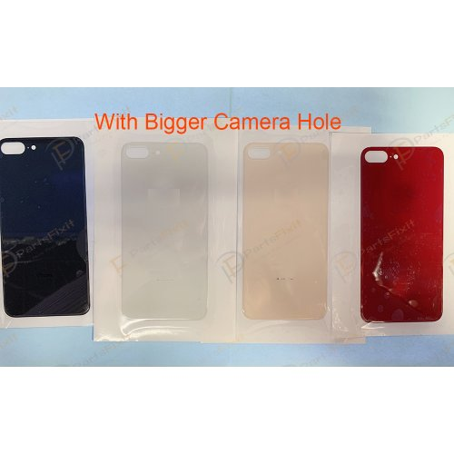 European Version For iPhone 8 Plus Back Glass with Bigger Camera Hole