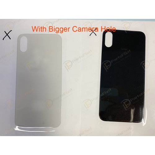 European Version For iPhone X Back Glass with Bigger Camera Hole