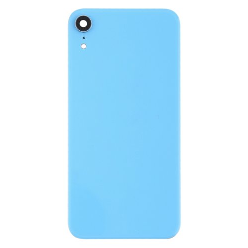 For iPhone XR Back Glass Camera Lens and Bezel Blue
