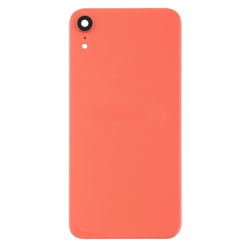 For iPhone XR Back Glass Camera Lens and Bezel Pink