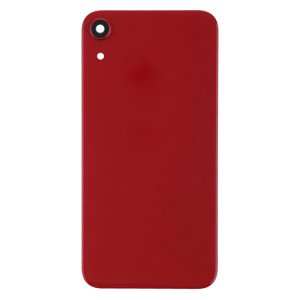 For iPhone XR Back Glass Camera Lens and Bezel Red