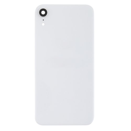 For iPhone XR Back Glass Camera Lens and Bezel White