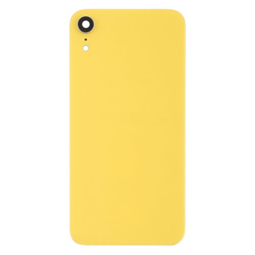 For iPhone XR Back Glass Camera Lens and Bezel Yellow