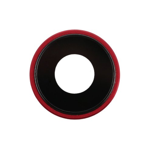 For iPhone XR Camera Lens with Bezel Red