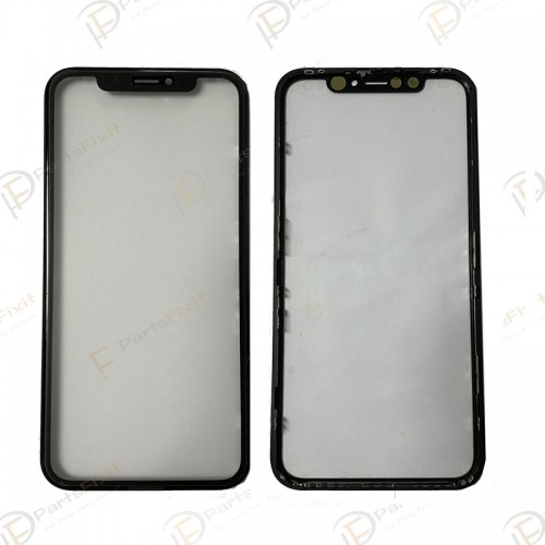For iPhone XR Front Glass with Frame and OCA Preinstalled