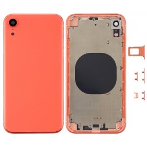 For iPhone XR Battery Cover with Side Keys Coral
