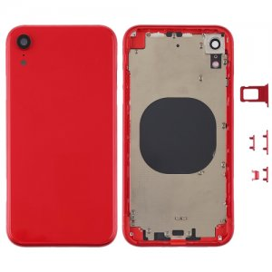 For iPhone XR Battery Cover with Side Keys Red