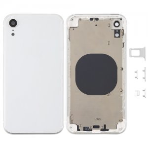 For iPhone XR Battery Cover with Side Keys White