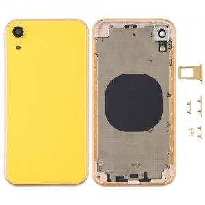 For iPhone XR Battery Cover with Side Keys Yellow